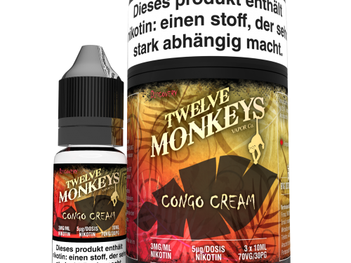 TWELVE MONKEYS - Congo Cream Premium LIQUID 3X 10ML-0