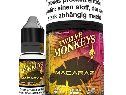 TWELVE MONKEYS - Macaraz Premium LIQUID 3X 10ML-0