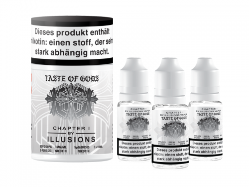 Ilusions - Taste of Gods Premium LIQUID 3X 10ML-0